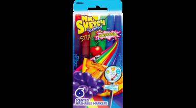 Markers Wshbl Stix Mr Sketch 6 Pkg Microage Basics