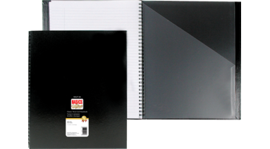 Basics Classic Coil Notebook 11 X 8 1 2 152 Pages Black Microage Basics