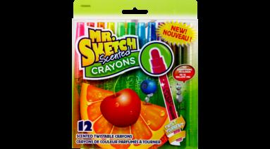 Crayons Scent Twist Asst 12 Pkg Manleys Basics